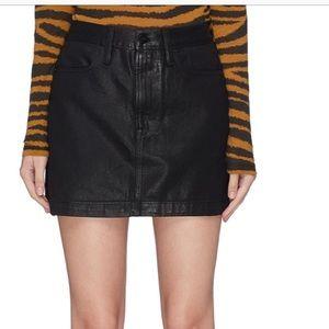 NWT FRAME Le Mini Denim A-Line Skirt
